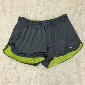 Nike Running Shorts in Gray & Green Jersey Size S